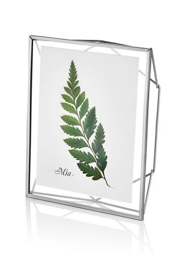 The Mia Brass Çerçeve Silver 29 x 25 Cm  Gümüş